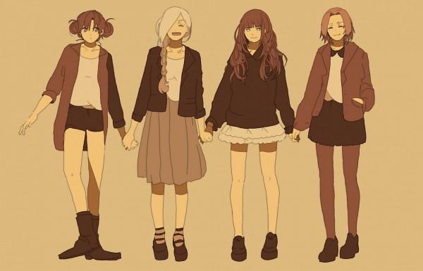 Tags: Anime, Pixiv Id 3928669, NARUTO, Hyuuga Hinata, Haruno Sakura, Yamanaka Ino, Tenten, Fanart, Pixiv