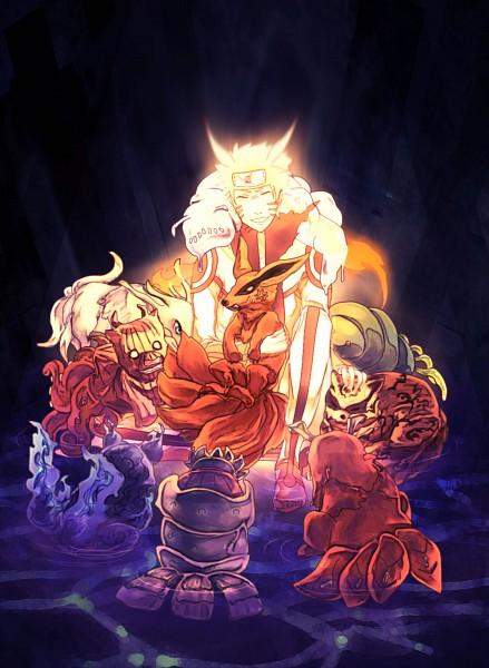 Tags: Anime, Pixiv Id 44316, NARUTO, Yonbi, Hachibi, Sanbi no Kyodaigame, Kyuubi (NARUTO), Nanabi, Nibi no Bakeneko, Rokubi, Uzumaki Naruto, Gobi, Shukaku