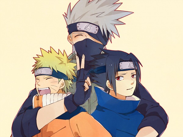 Tags: Anime, Pixiv Id 3963129, NARUTO, Uchiha Sasuke, Uzumaki Naruto, Hatake Kakashi, Fanart From Pixiv, Pixiv, Fanart