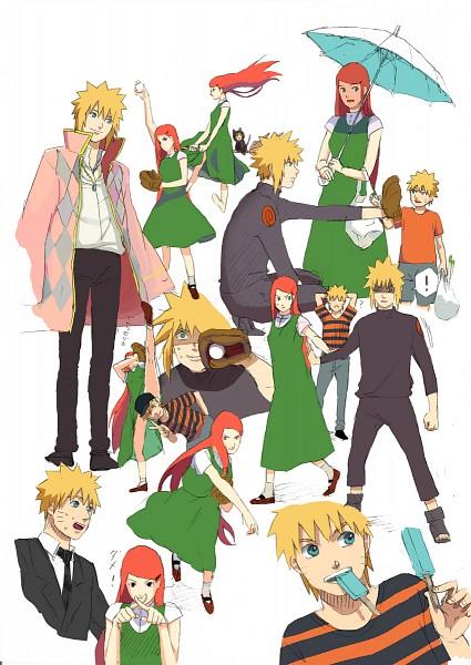 Tags: Anime, Pixiv Id 4960818, NARUTO, Namikaze Minato, Uzumaki Kushina, Uzumaki Naruto, Baseball Ball, Howl (Cosplay), Baseball Glove, Mobile Wallpaper, Uzumaki Family
