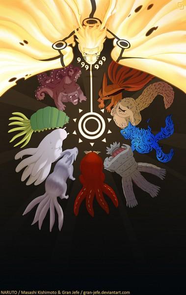 Tags: Anime, Gran-jefe, NARUTO, Hachibi, Sanbi no Kyodaigame, Kyuubi (NARUTO), Nanabi, Uzumaki Naruto, Nibi no Bakeneko, Rokubi, Gobi, Shukaku, Yonbi