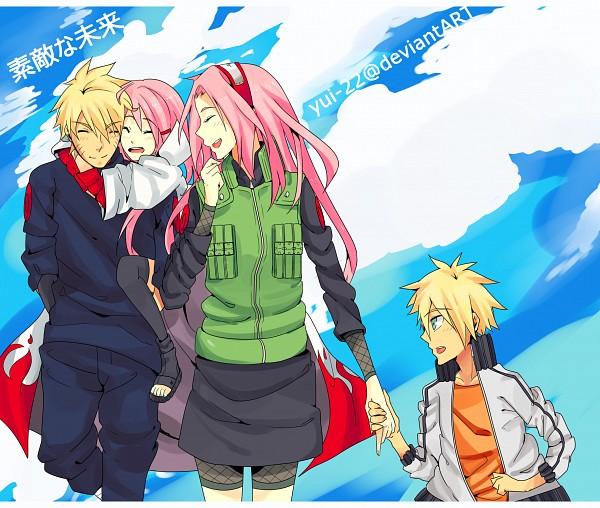 Tags: Anime, Yui-22, NARUTO, Fan Character, Uzumaki Naruto, Haruno Sakura, Flak Jacket, NaruSaku