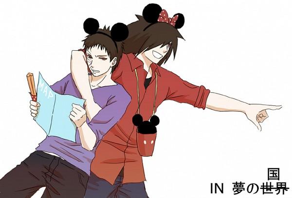 Tags: Anime, NARUTO, Uchiha Obito, Uchiha Madara, Tobi, Minnie Mouse (Cosplay), Mickey Mouse (Cosplay), Pixiv