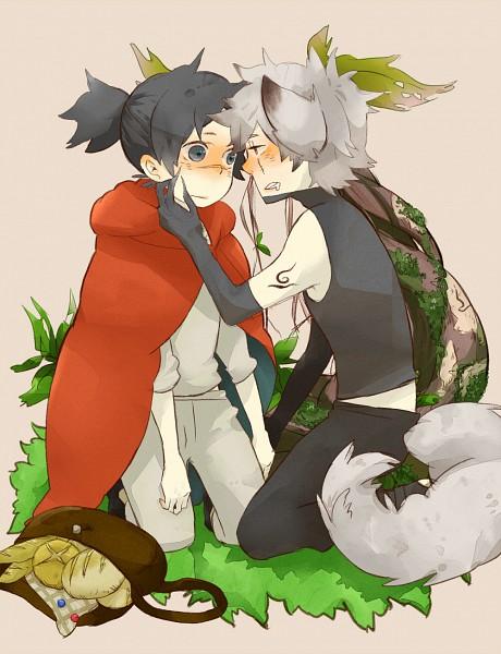 Tags: Anime, Pixiv Id 2056004, NARUTO, Hatake Kakashi, Umino Iruka, Red Riding Hood (Parody), Fanart From Pixiv, Fanart, Pixiv, KakaIru
