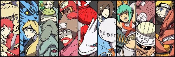 Tags: Anime, Pixiv Id 4519096, NARUTO, Rokubi, Nii Yugito, Roushi, Gobi, Kyuubi (NARUTO), Shukaku, Uzumaki Naruto, Yagura, Yonbi, Gaara