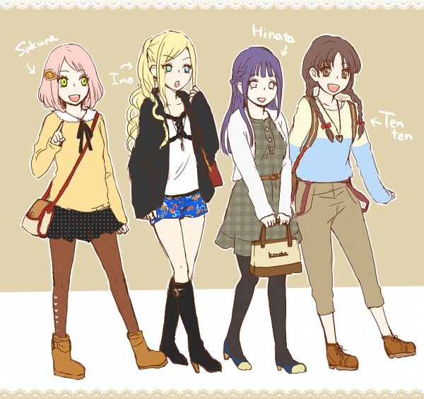 Tags: Anime, Pixiv Id 2459971, NARUTO, Haruno Sakura, Yamanaka Ino, Tenten, Hyuuga Hinata