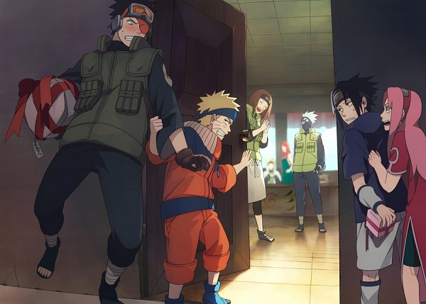 Tags: Anime, Min Tosu, NARUTO, Hatake Kakashi, Uchiha Obito, Uchiha Sasuke, Nohara Rin, Uzumaki Naruto, Namikaze Minato, Haruno Sakura, Uzumaki Kushina