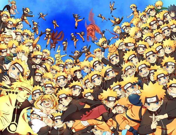 Tags: Anime, Pixiv Id 4519096, Naruto the Movie: Road to Ninja, Naruto Shippuden: Ultimate Ninja Impact, NARUTO, Menma (Naruto The Movie: Road To Ninja), Uzumaki Naruto (Female), Uzumaki Naruto, Gold Skin, Bijuu Mode, Kyuubi Mode, Pixiv, Sage Mode