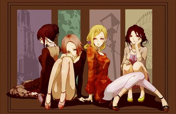 Tags: Anime, Meromizawa, NARUTO, Hyuuga Hinata, Haruno Sakura, Yamanaka Ino, Tenten, Fanart From Pixiv, PNG Conversion, Fanart, Pixiv
