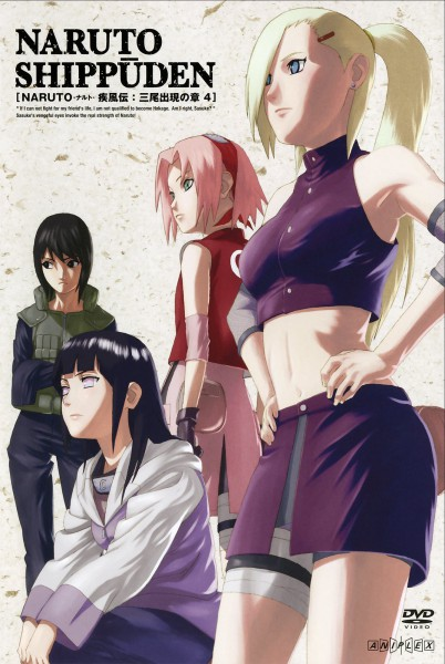 Tags: Anime, Aniplex, Studio Pierrot, NARUTO, Yamanaka Ino, Haruno Sakura, Shizune, Hyuuga Hinata, Mobile Wallpaper, Official Art, Scan, DVD (Source)
