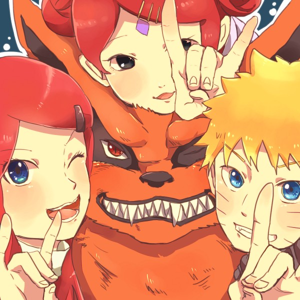 Tags: Anime, Pixiv Id 4519096, NARUTO, Kyuubi (NARUTO), Uzumaki Kushina, Uzumaki Mito, Uzumaki Naruto, Tailed Beasts, Jinchuuriki, Uzumaki Clan