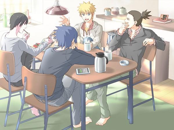 Tags: Anime, Pixiv Id 945241, NARUTO, Uchiha Sasuke, Uzumaki Naruto, Nara Shikamaru, Sai, Fanart From Pixiv, Pixiv, Wallpaper, Fanart