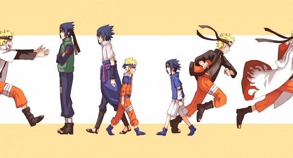 Tags: Anime, Pixiv Id 1284690, NARUTO, Uchiha Sasuke, Uzumaki Naruto, Hokage Outfit, Facebook Cover, Wallpaper