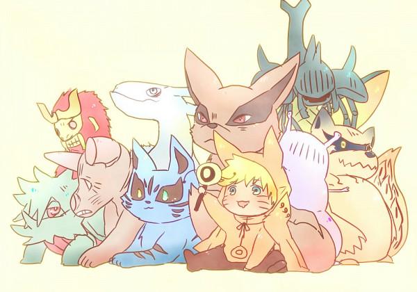 Tags: Anime, Pixiv Id 4519096, NARUTO, Uzumaki Naruto, Sanbi no Kyodaigame, Kyuubi (NARUTO), Nanabi, Nibi no Bakeneko, Rokubi, Gobi, Shukaku, Yonbi, Hachibi