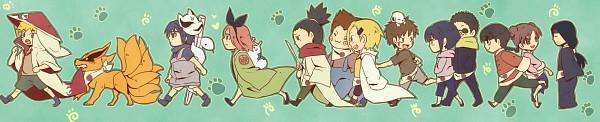 Tags: Anime, Pixiv Id 4519096, NARUTO, Uzumaki Naruto, Tenten, Kyuubi (NARUTO), Haruno Sakura, Inuzuka Kiba, Hyuuga Hinata, Akimichi Chouji, Hyuuga Neji, Rock Lee, Yamanaka Ino