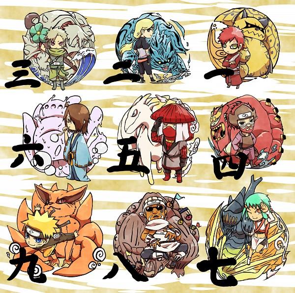 Tags: Anime, Pixiv Id 4519096, NARUTO, Yonbi, Fuu (NARUTO), Hachibi, Uzumaki Naruto, Killer Bee, Sanbi no Kyodaigame, Gaara, Utakata (NARUTO), Nanabi, Nibi no Bakeneko
