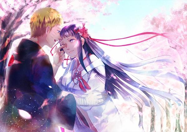 Tags: Anime, Pixiv Id 12561055, NARUTO, Hyuuga Hinata, Uzumaki Naruto, Shiromuku, Japanese Wedding, Fanart, Pixiv, Fanart From Pixiv, NaruHina