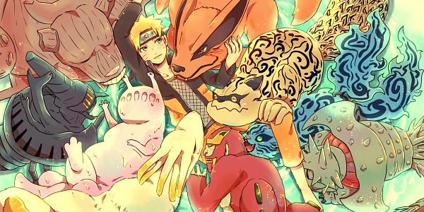 Tags: Anime, Pixiv Id 4519096, NARUTO, Rokubi, Shukaku, Uzumaki Naruto, Gobi, Kyuubi (NARUTO), Yonbi, Hachibi, Sanbi no Kyodaigame, Nanabi, Nibi no Bakeneko