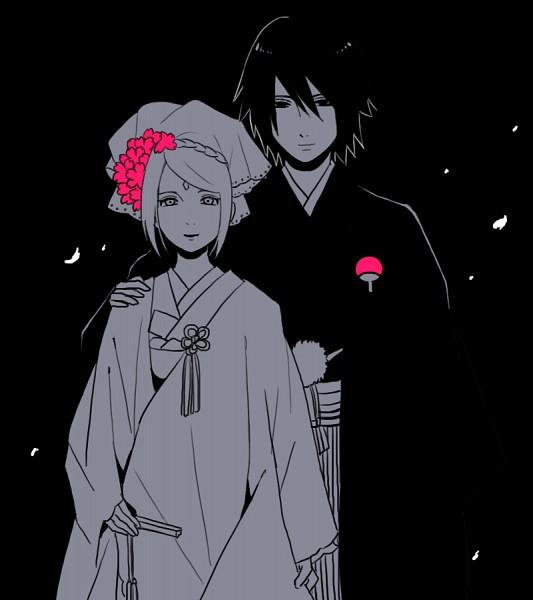 Tags: Anime, Pixiv Id 1216720, NARUTO, Haruno Sakura, Uchiha Sasuke, Shiromuku, Japanese Wedding, Fanart From Pixiv, PNG Conversion, Fanart, Pixiv, SasuSaku