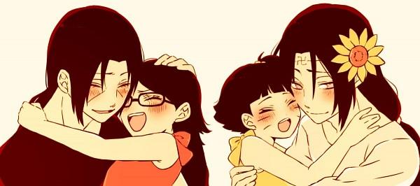 Tags: Anime, Pixiv Id 8088802, NARUTO, Uchiha Itachi, Hyuuga Neji, Uchiha Sarada, Uzumaki Himawari, Uncle, Facebook Cover
