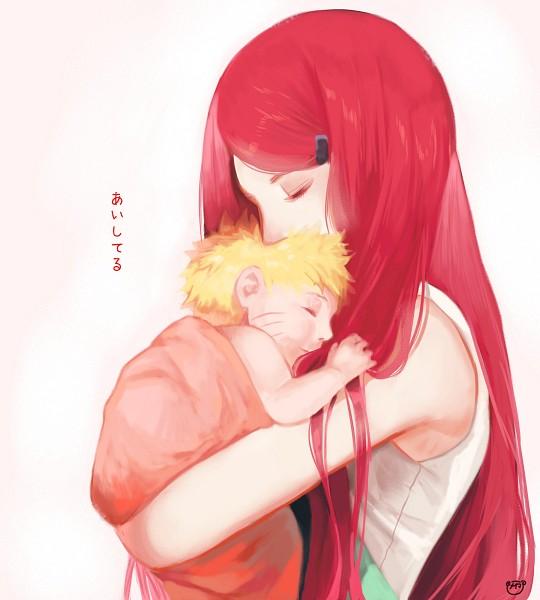 Tags: Anime, Meiko (Puua), NARUTO, Uzumaki Naruto, Uzumaki Kushina, Tumblr, Fanart, PNG Conversion, Uzumaki Family, Uzumaki Clan