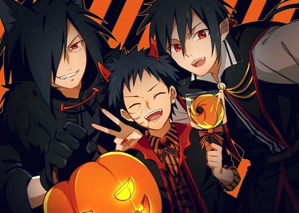 Tags: Anime, Pixiv Id 2750004, NARUTO, Uchiha Izuna, Uchiha Madara, Uchiha Obito, Vampire Costume, Werewolf Costume, Devil Costume, Pixiv, Fanart From Pixiv, Fanart, Uchiha Clan