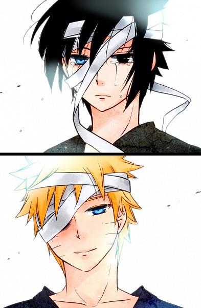Tags: Anime, Moriko Ik, NARUTO, Uchiha Sasuke, Uzumaki Naruto, Fanart, Pixiv, Mobile Wallpaper, Jinchuuriki