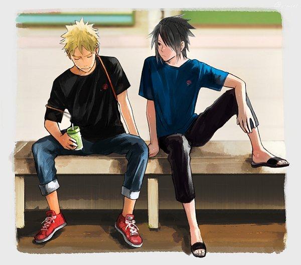 Tags: Anime, Pixiv Id 2455706, NARUTO, Uchiha Sasuke, Uzumaki Naruto, Uzumaki Symbol, Uchiha Symbol, Fanart, Pixiv, Fanart From Pixiv