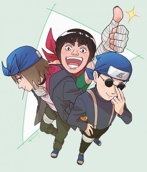 Tags: Anime, NARUTO, NARUTO: SHIPPŪDEN, Ebisu, Shiranui Genma, Might Guy