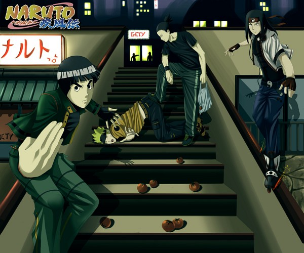 Tags: Anime, NARUTO, Nara Shikamaru, Rock Lee, Uzumaki Naruto, Hyuuga Neji, Jinchuuriki