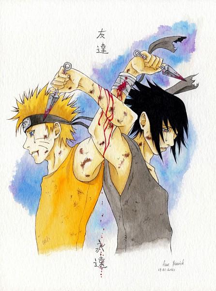 Tags: Anime, NARUTO, Uchiha Sasuke, Uzumaki Naruto, Artist Request, Jinchuuriki