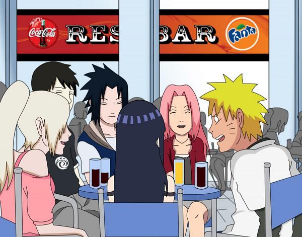 Tags: Anime, NARUTO, Yamanaka Ino, Haruno Sakura, Hyuuga Hinata, Sai, Uchiha Sasuke, Uzumaki Naruto, Cafeteria, Artist Request, Jinchuuriki