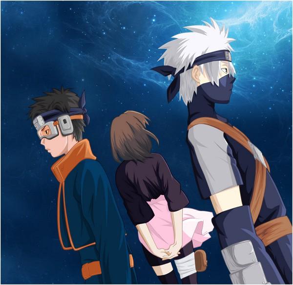 Tags: Anime, NARUTO, Nohara Rin, Hatake Kakashi, Uchiha Obito, Team Minato