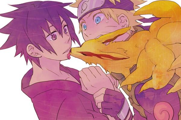 Tags: Anime, Starplatinum, NARUTO, Kyuubi (NARUTO), Uchiha Sasuke, Uzumaki Naruto, Fanart, Pixiv, NaruSasu, Jinchuuriki