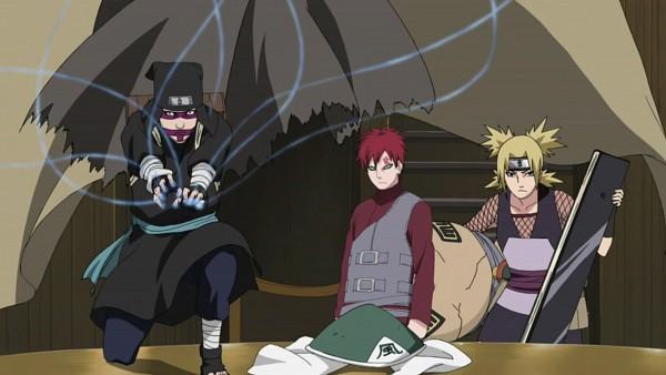 Tags: Anime, NARUTO, Kankurou, Gaara, Temari (NARUTO), Quad Tails, Screenshot, Jinchuuriki