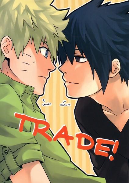 Tags: Anime, emi (10-RANKAI), NARUTO, Uchiha Sasuke, Uzumaki Naruto, Mobile Wallpaper, Doujinshi Cover, Fanart, Scan, NaruSasu