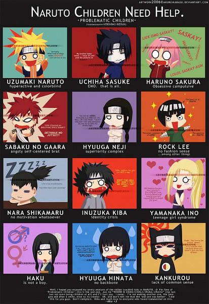Tags: Anime, Akurei Karasu, NARUTO, Hyuuga Neji, Rock Lee, Haku (NARUTO), Nara Shikamaru, Uchiha Sasuke, Yamanaka Ino, Gaara, Uzumaki Naruto, Kankurou, Haruno Sakura