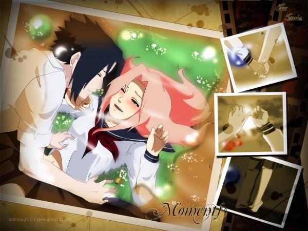 Tags: Anime, Annria2002, NARUTO, Uchiha Sasuke, Haruno Sakura, Wallpaper