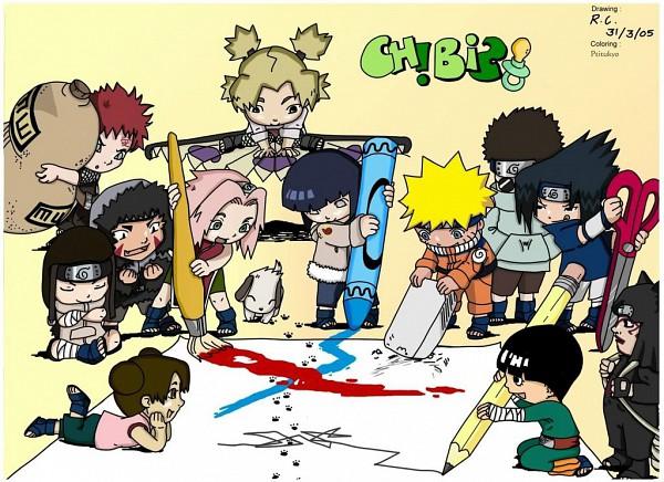 Tags: Anime, NARUTO, Hyuuga Hinata, Tenten, Rock Lee, Temari (NARUTO), Inuzuka Kiba, Uchiha Sasuke, Hyuuga Neji, Akamaru (NARUTO), Uzumaki Naruto, Aburame Shino, Gaara