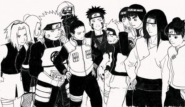 Tags: Anime, NARUTO, Rock Lee, Inuzuka Kiba, Uzumaki Naruto, Akimichi Chouji, Hyuuga Neji, Haruno Sakura, Yamanaka Ino, Nara Shikamaru, Aburame Shino, Hyuuga Hinata, Akamaru (NARUTO)