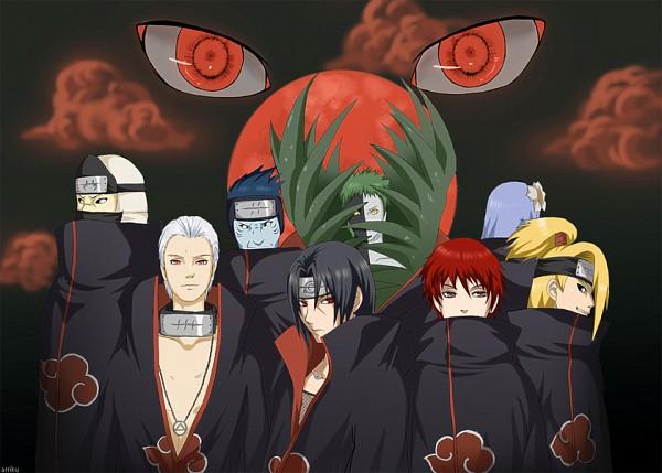 Tags: Anime, NARUTO, Uchiha Itachi, Hidan, Hoshigaki Kisame, Sasori, Kakuzu, Deidara, Konan, Slicked Back Hair, Akatsuki (NARUTO), Kiri no Shinobigatana Shichinin Shuu