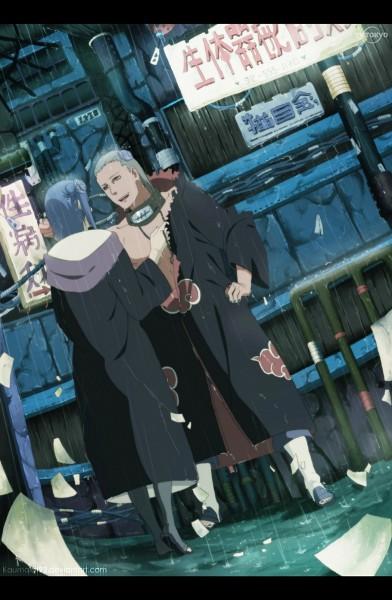 Tags: Anime, Kaumalat92, NARUTO, Konan, Hidan, Mobile Wallpaper, Akatsuki (NARUTO)