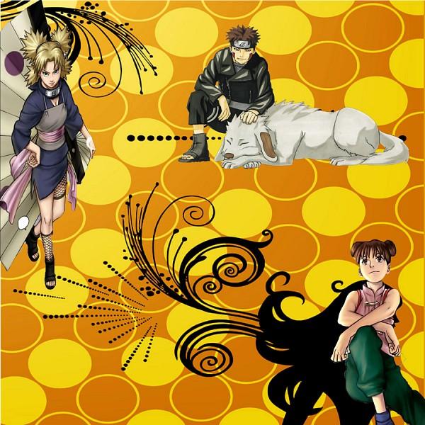 Tags: Anime, NARUTO, Inuzuka Kiba, Akamaru (NARUTO), Temari (NARUTO), Tenten, Quad Tails