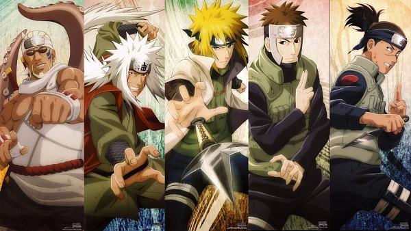 Tags: Anime, Studio Pierrot, NARUTO, Yamato (NARUTO), Umino Iruka, Jiraiya (NARUTO), Killer Bee, Namikaze Minato, Facebook Cover, Official Art, Jinchuuriki