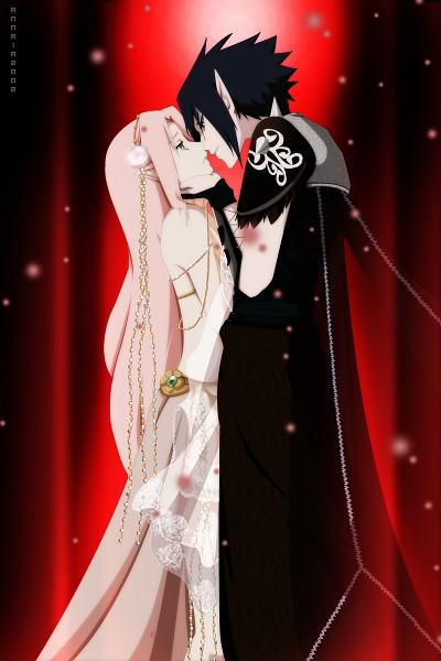 Tags: Anime, Annria2002, NARUTO, Haruno Sakura, Uchiha Sasuke, Mobile Wallpaper, deviantART, SasuSaku