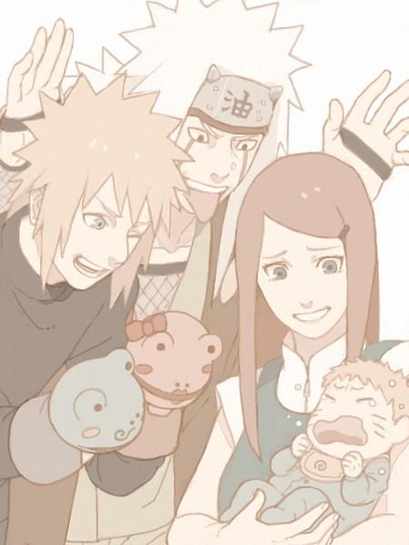 Tags: Anime, Mannmaruu, NARUTO, Uzumaki Kushina, Uzumaki Naruto, Jiraiya (NARUTO), Namikaze Minato, Hand Puppet, Uzumaki Family