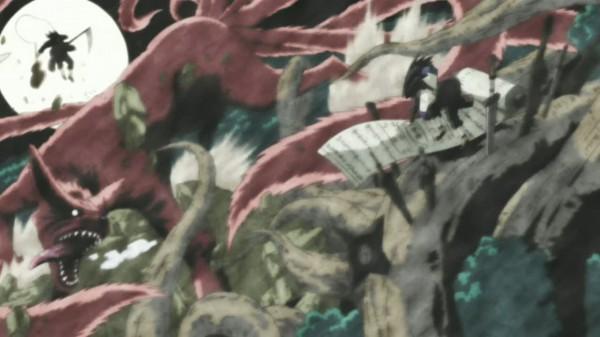 Tags: Anime, NARUTO, Senju Hashirama, Kyuubi (NARUTO), Uchiha Madara, Screenshot
