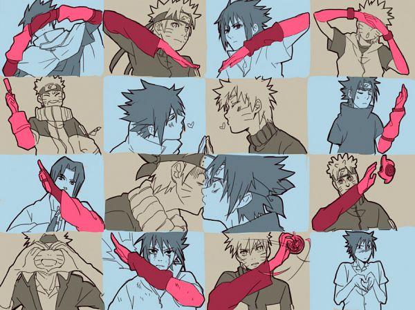 Tags: Anime, NONOYA, NARUTO, Uchiha Sasuke, Uzumaki Naruto, Heart Gesture Duo, Fanart, Pixiv, Hātotoresu, Jinchuuriki, NaruSasu