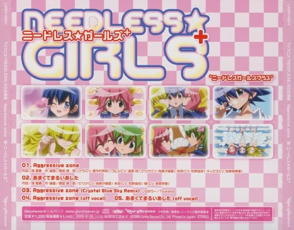 Tags: Anime, NEEDLESS, Cruz Schild, Kuchinashi, Setsuna (Needless), Mio (Needless), Eve Neuschwanstein, CD (Source), Artist Request, Official Art