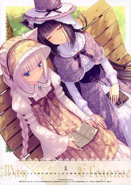 Tags: Anime, Sayori, NEKO BIBLE, Vanilla (Neko Para), Chocola (Neko Para), Comic Market 77, Pixiv, Calendar 2010, Original, Mobile Wallpaper, Scan, Comic Market 76, 「neko Bible」chocola & Vanilla 2010 Calendar